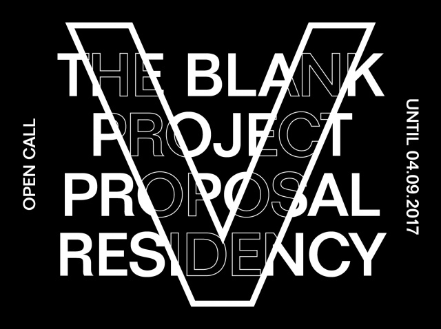 THE BLANK PROJECT PROPOSAL RESIDENCY | OPEN CALL